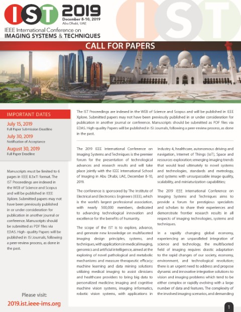 Call For Papers preview